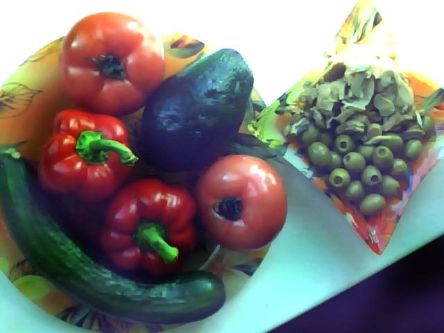Салат с авокадо - ингредиенты
