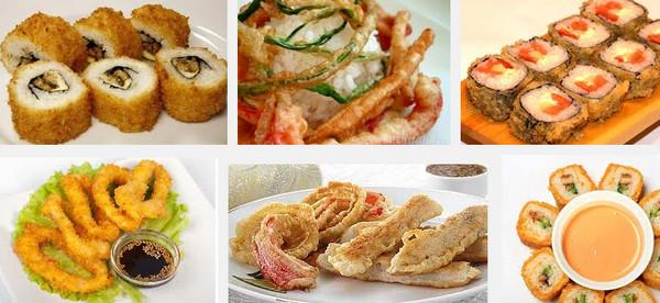 Японское блюдо - темпура