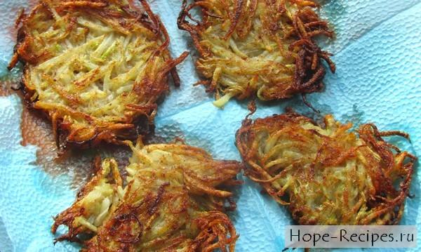 рецепт драники из кабачка