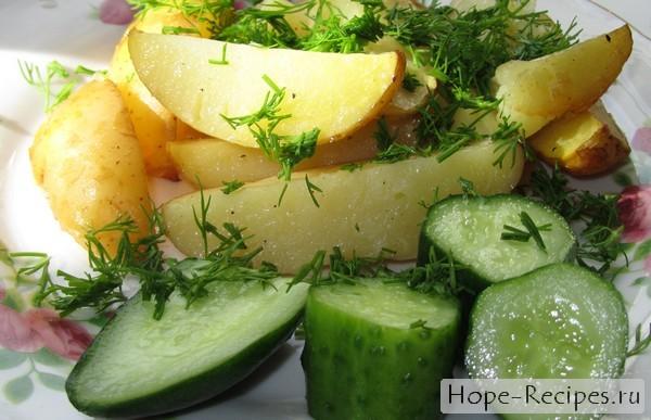 Запеченный картофель по-селянски в духовке
