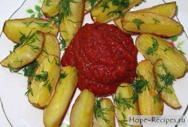 Домашний кетчуп с картошечкой