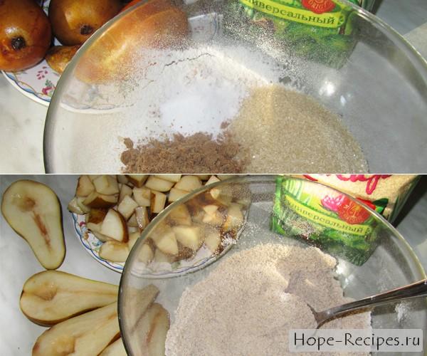 Как испечь пирог с грушами
