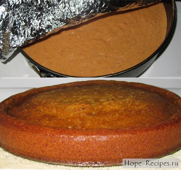 Корж для морковного торта