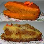 Морковный торт с двумя видами крема