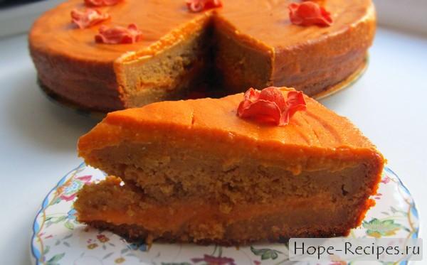 Морковный торт с морковным кремом