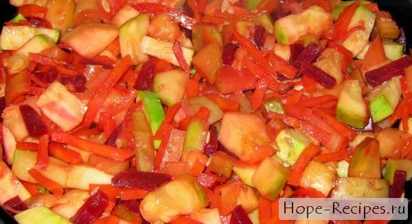 Овощное рагу с кабачками рецепт с фото