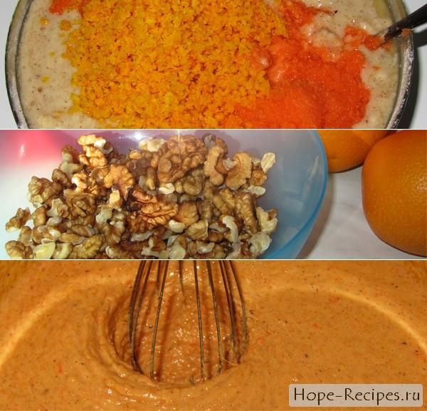Рецепт теста на постный морковный торт