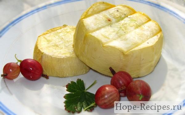 Рецепт - кабачки гриль на решетке