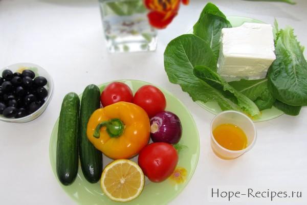 Как приготовить салат греческий