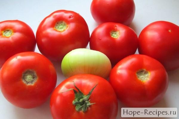 Вкусные домашние помидоры на салат