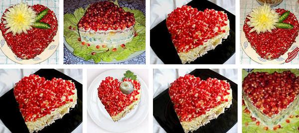 Как приготовить салат Рубиновое сердце