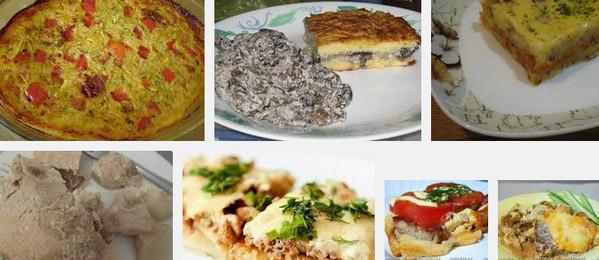 Запеканка с мясом и сыром