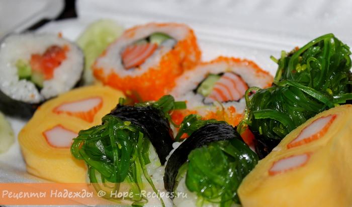 Очень вкусные суши и роллы