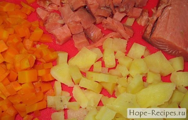 Пошаговый рецепт с фотографиями - салат Норвежский