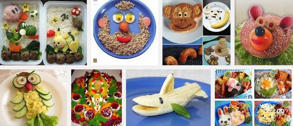 Сервировка детских блюд