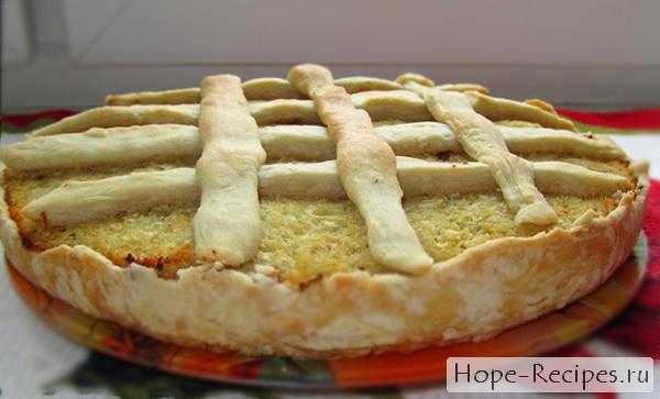 Пирог с минтаем и цветной капустой - рецепт