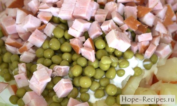 Классический рецепт салата Оливье