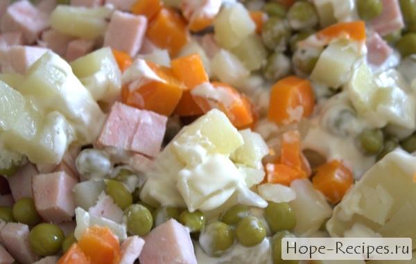 Любимый новогодний салат Оливье - рецепт