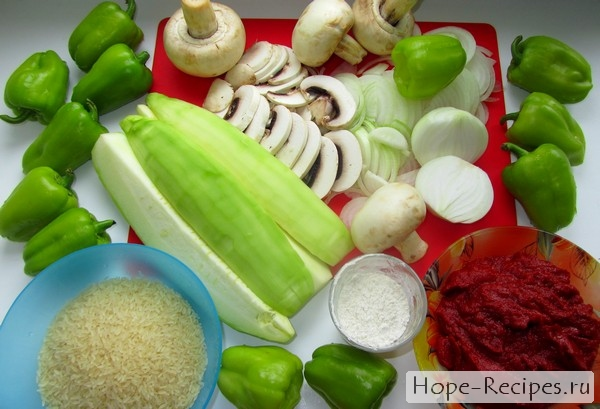 Перец фаршированный - рецепт приготовления
