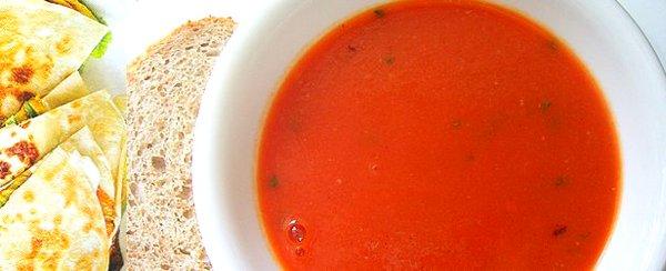 Постный томатный суп-пюре с булгуром