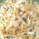 Салат из капусты с яблоком и огурцом