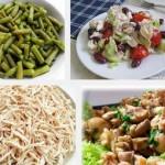 Салат из курицы с грибами и стручковой фасолью