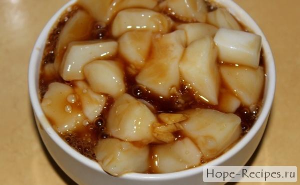 Маринуем филе осьминога в соусе