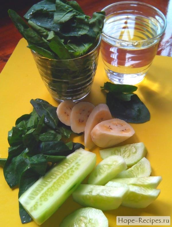 Рецепт зеленого коктейля из шпината