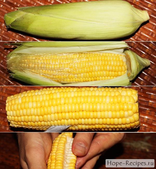 Как почистить кукурузу в початке