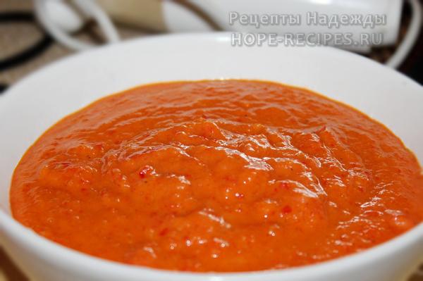 Готовый чили соус с приятным кисло-сладко-острым вкусом