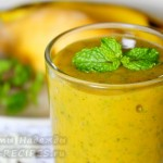 Вкуснейший смузи из манго с бананом и мятой