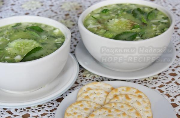 Рецепт холодного супа с авокадо и овощами