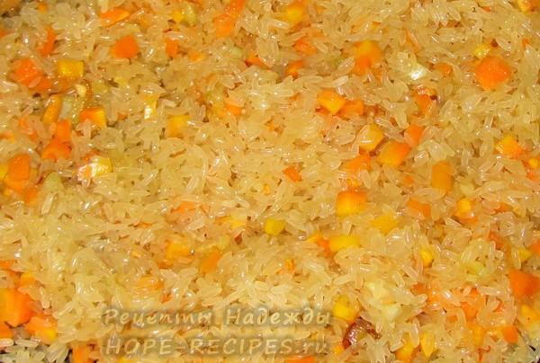 Рис впитывает оливокове масло