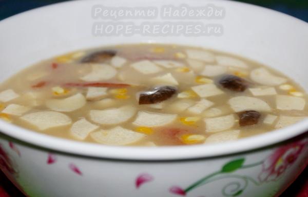 Ароматный тайский суп Том Кха Гай