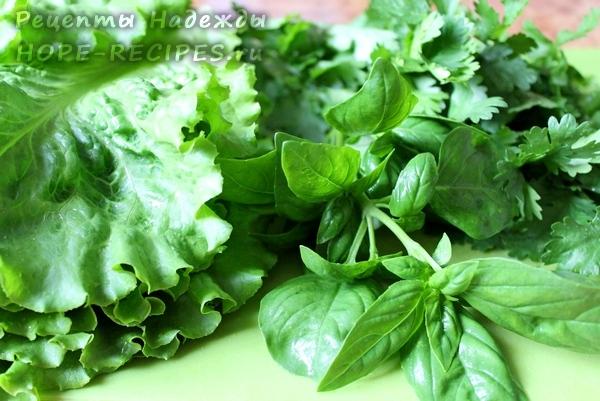 Зелень для приготовления творожного сыра