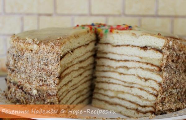 Вкуснейший домашний медовый тортик - медовик с нежным сметанным кремом