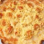 Пельмет - омлет с пельменями и сыром