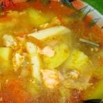 Суп из головы форели