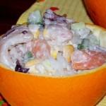 Салат с морепродуктами Божественный