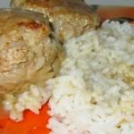 Мясные тефтельки жареные с рисом