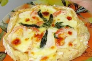 Пицца Маргарита классическая (с моцареллой, базиликом и помидорами)