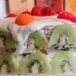 Торт на йогурте с ананасами