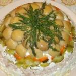 Салат Грибная полянка праздничный