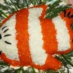 Праздничный салат Рыбка