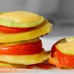 Вкусная закуска из запеченных овощей с сыром