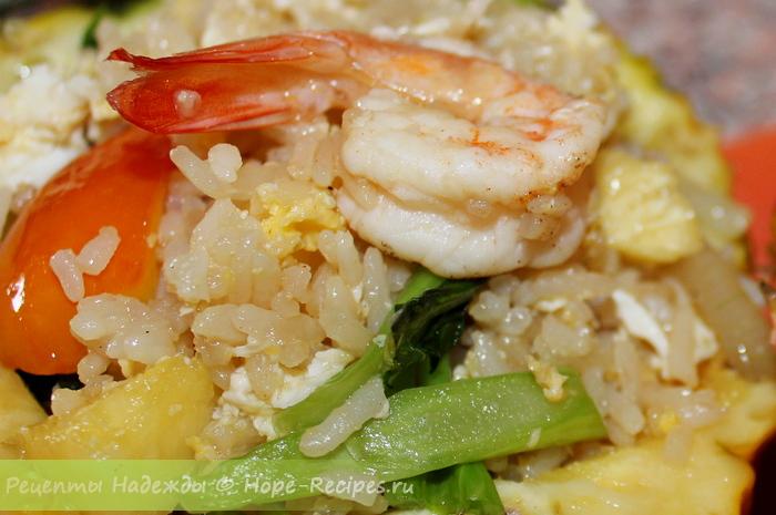 Жареный рис в тайском стиле
