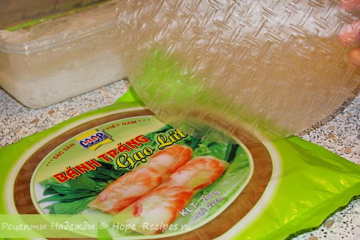 Рисовая бумага для приготовления спринг роллов