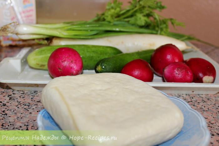 Ингредиенты для вегетарианской окрошки