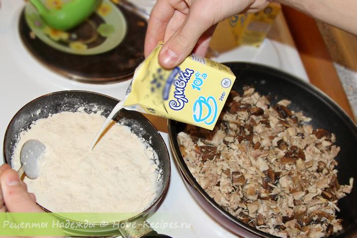 Как приготовить куриный жульен с грибами