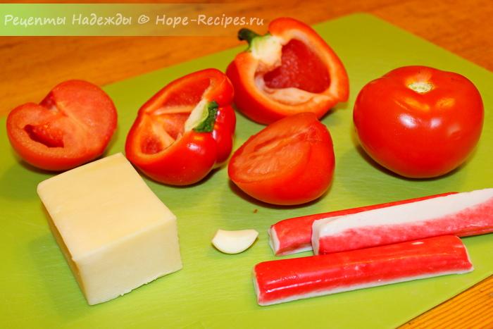 Новый рецепт приготовления салата с крабовыми палочками